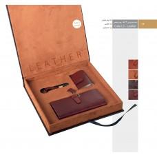 ست مدیریتی 3 تکه چرم طبیعی کد L3-Leather